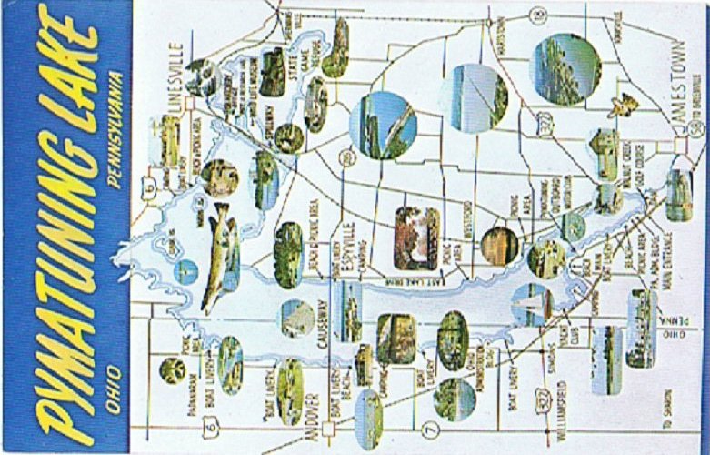 Map of pymatuning lake area pictures to pin on pinterest for Lake wilhelm fishing